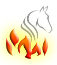 horse with flames