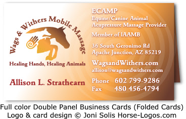 Tent business card design