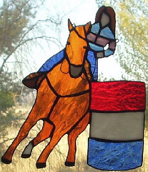 Stain Glass Horse Art