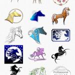Horse Clip Art of Arabian Horses