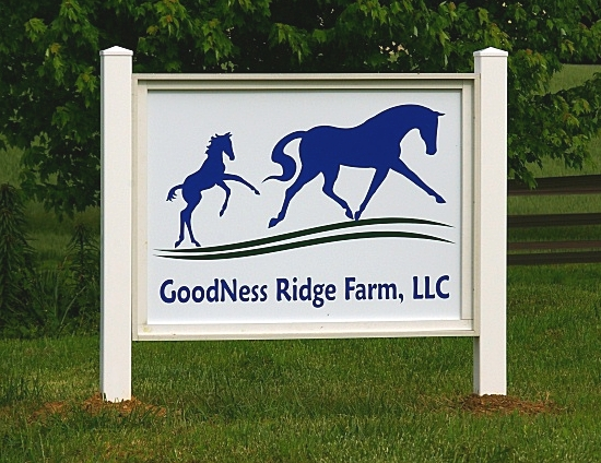 Goodness Ridge Farm Sign Installed
