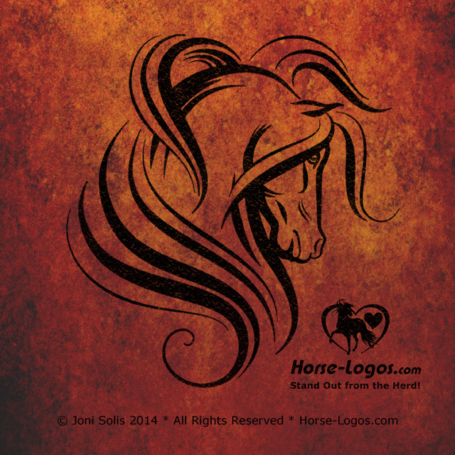 Horse Head with Long Flowing Mane
