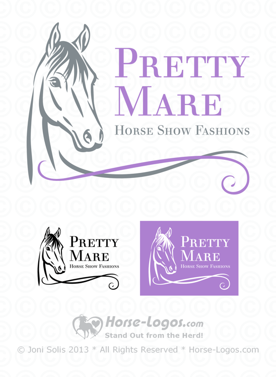 Horse Head Logo 30 - Pretty Mare