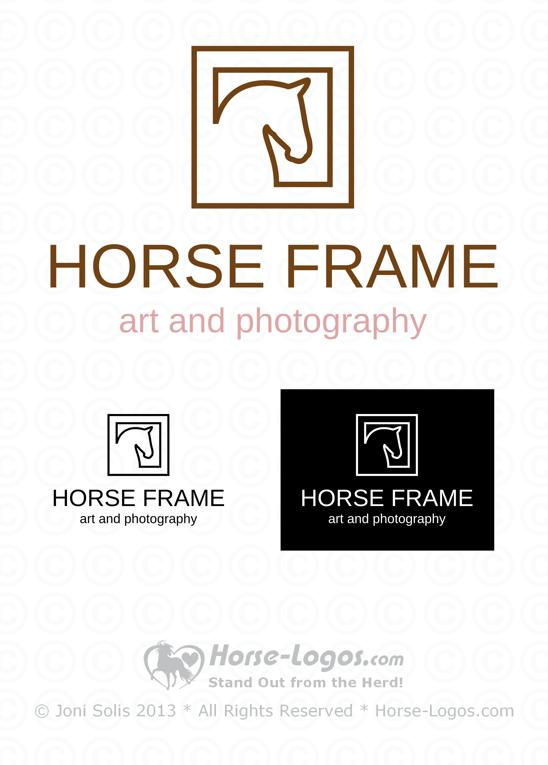 Horse Head Logo of a Horse in a Square Frame