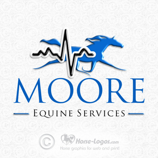 Horse Logo for Moore Equine Services