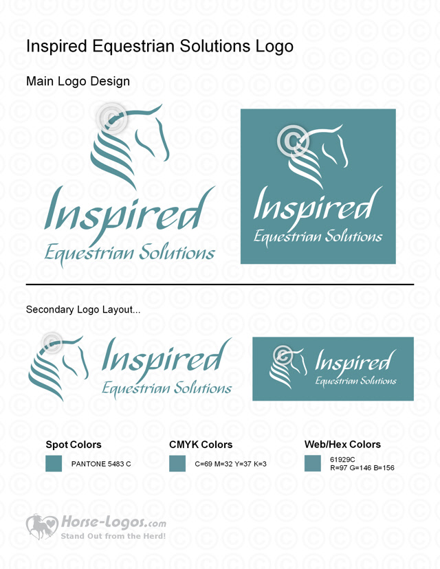 New Horse Logo Design for Inspired Equestrian Solutions