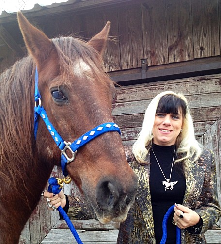 Pie the horse and author Kandy Kay Scaramuzzo